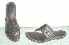 Women's brown leather upper BORN slip on sandals / shoes, sz 9 M