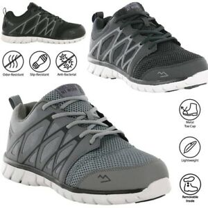 MENS ULTRA LIGHTWEIGHT SAFETY BOOTS TRAINERS STEEL TOE CAP WORK WOMENS SHOES SZ