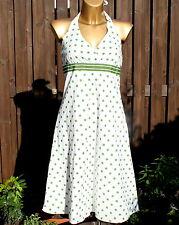 Esprit Sommer Kleid grün weiß Punkte dots gr 36  top  rockabilly