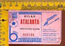 Biglietto Calcio Campionato 1983 Milan Atalanta