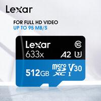 Lexar 95MB/S 512GB Micro Sd Card 128GB 256GB 512G SDXC/SDHC Flash Memory TF Card