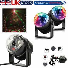 LED Crystal Magic Ball RGB Light Disco Laser Dance DJ Party Bulb Lamp UK Plug