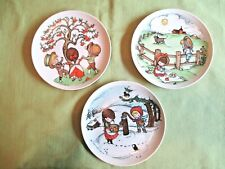 Vintage Lot of Three Decorative Plates by Joan Walsh Anglund-Sweet!