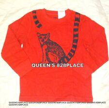 NWT Gymboree Boys 5 5T Fox Trail Orange raccoon T-Shirt Top Long Sleeve Twins