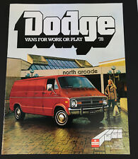 Vintage 1978 Dodge Vans for Work Play Car Sales Brochure 12 pages