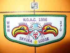 OA Skyuka Lodge 270,S14,1996 NOAC,WHT,SMALL Flap,Palmetto Council,Spartanburg,SC
