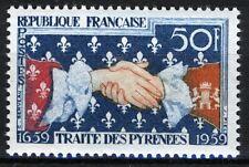 France 1959, 300 years of the Pyrenees Treaty VF MNH, Mi 1265