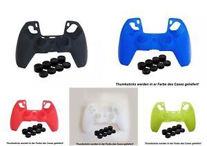 PS5 Controller PLAYSTATION 5 SILIKON Case Cover Schutzhülle + 8 Thumbsticks NEU