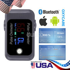 Bluetooth Fingertip Pulse Oximeter Blood Oxygen Meter Finger Tip SpO2 FDA