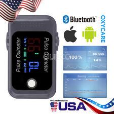OLICEO Bluetooth Fingertip Pulse Oximeter Grey Blood Oxygen BM1000C SpO2