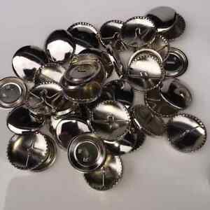 Best Quality Self Cover Round Metal Buttons 11mm to 19mm - Free Postage