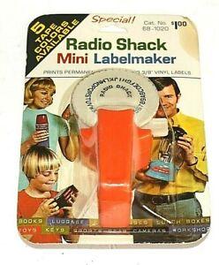 Radio Shack Vintage Mini Label Maker Cat.No. 68-1020