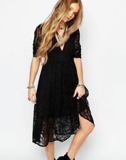 FREE PEOPLE black mountain laurel lace dress US S 4 gypsy hippie boho BNWT