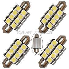 4 x 39mm White Canbus 8-SMD LED Festoon Bulb License Plate Light No Error Free