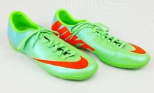 Nike Mercurial Victory IV IC Mens Soccer Shoes, Neo Lime/Blue/Orange, 555614-380