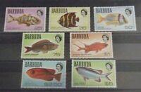 BARBUDA #22-28 MNH, UMM F-VF 1968 FISH HIGH VALUES OF SET to $5. SG #21-27