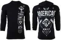 AMERICAN FIGHTER Mens Hoodie Sweat Shirt LANDER Athletic BLACK CAMO Gym UFC $65