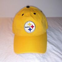 Pittsburgh Steelers NFL Baseball Cap Hat Yellow One Size Strapback Football