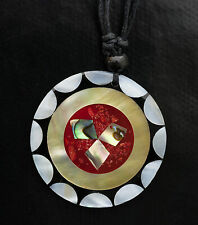 Collier ethnique avec pendentif nacre - Bijoux fantaisie pas cher - BB590-A78