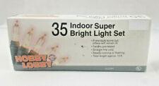 Hobby Lobby Indoor 35 Clear Super Bright Christmas Light Set 13ft