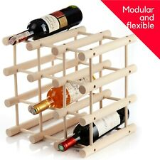 Customizable Wine Rack 12 Bottle Top And Under Cabinet Space Filler Holder Shelf