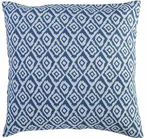Hand Block Print Cushion Cover Set Of 2 Pcs Indian 16x16 Indigo Sofa Pillow Case