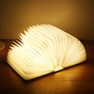 3D Creative LED Book Night Light Wooden 5V USB Desk Table Lamp Home Decoration