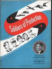 Soldiers of Production 1943 General Electric World War II Sheet Music