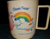 Vintage 1985 Deka Plastics Care Bear Cheer Bear plastic mug cup
