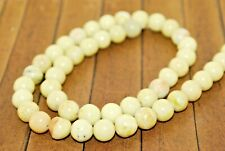 New lot 50 pc Lemon Jasper Stone Beads - 8mm - Was $22- A124a+