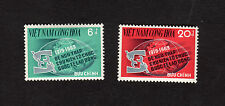 1969 RVN South Vietnam Full Set of 2 Stamp MNH The 50th Anniversary of I.L.O.