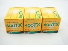 3x KODAK 400 Tri-X 400 TX , KODAK 400TX , B&W NEGATIVE Film 35mm FRESH 2/2019