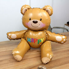 Birthday Baby Shower Decoration 3D Bear Foil Balloon Inflatable Party Decor