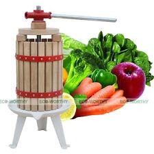 6L Fruit Wine Cider Press Apple Grapes Berry Pear Crusher Juice Maker Vintage vv
