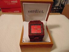 "Verdict ""Paint the Town"" 46mm Sandalwood Wood Watch MUST SEE!!!"