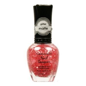 KLEANCOLOR Glitter Matte Nail Lacquer - Blush Pink (3 Pack)