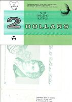 Australia Rare 1991 NPA Hobart Fair $2 FOLDER Johnston Fraser banknote Issue r89