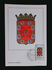 SPAIN MK 1964 ESCUDO MURCIA WAPPEN BLAZON MAXIMUMKARTE MAXIMUM CARD MC CM c5958