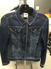 Harley-Davidson Women's Studded Eagle Denim Jacket.  Indigo Blue.  Sz. Med