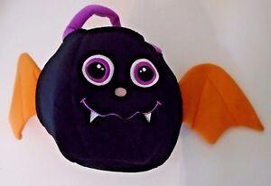 Black Vampire Bat Plush Basket Container Halloween Costume Holiday Decoration