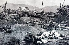 Korea Corea 1871 Fort McKee KANG HOA ISLAND Ganghwa Ganghwado DEAD Engraving