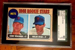 1968 Topps Nolan Ryan RC Rookie SGC 60 Ex 5 Card #177