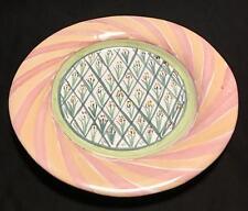 Mackenzie Childs Bearded Iris Dinner Plate - NEW - Designer Ceramic Serving Dish