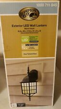 Hampton Bay Black Outdoor LED Wall Lantern Maintenance Free 1000811845