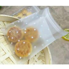 100pcs/Set Self Adhesive Plastic Cookie Bag Candy Gift Packaging Brithday Bags