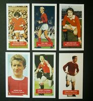 Lot of 6 MANCHESTER UNITED  Score UK football trade cards BEST LAW THOMAS HOLTON