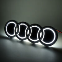 Sport Auto 5D LED Car Tail Logo Lights For Audi Q5 A1 Badge Emblem Lights White