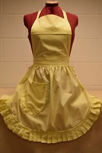 RETRO VINTAGE 50s STYLE FULL APRON / PINNY - LEMON
