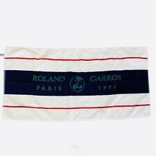 RARE Roland Garros Tennis Tournament Players Towel 1991 French Open