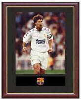 Michael Laudrup Real Madrid Mounted Framed & Glazed Memorabilia Gift Football